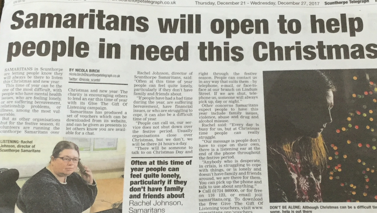 Press release by Joanna Woodhouse secured coverage in the Scunthorpe Telegraph